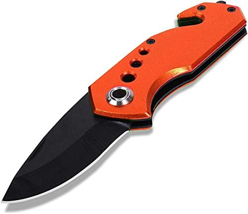 Taschenmesser Multifunktion Einhand Klappmesser, Outdoor-Messer, Survival Messer mit Messertasche, für Arbeit Wandern Camping, Vatertagsgeschenk