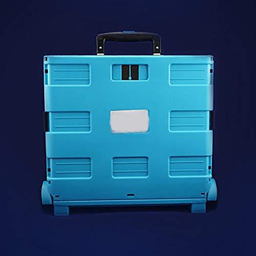 YLiansong Werkstattwagen, Werkzeugschrank Werkzeugwagen Faltbare Trolley Auto-Geschenk-Kasten-Zinn-Auto-Reparatur-Fabrik Trolley Werkzeugschrank Werkstatt (Farbe : Blau, Größe : 37x41x32cm)