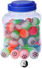 Juvale Bouncy Balls Party Favors - 60-Count Super Bouncy Balls Bulk, Eyeball Bouncy Balls Halloween Party Supplies, Assorted Colored Eye High Bouncing Balls Party Bag Filler, 1.25 Inches in Diameter