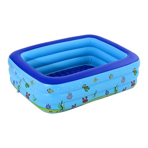 Yowablo Aufblasbarer PoolInflatable Bath Whirlpool Badewanne Adult Baby Folding (150x110x50cm,A)