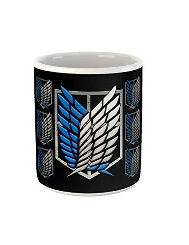 clothinx Taza de café, diseño de AoT Scouting Legion Swingen, color azul y blanco