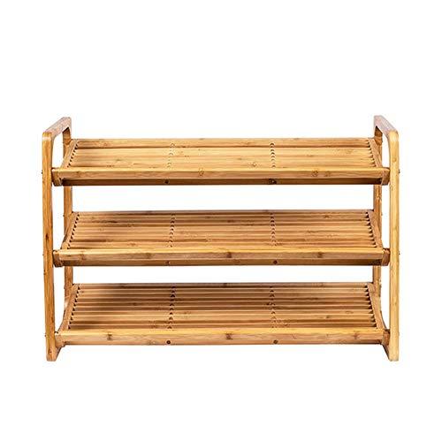 SXFYWJ Estante de Zapatos de bambú Estante de Almacenamiento de Calzado Inclinado Creativo Estante de Almacenamiento Multifuncional Adecuado para Pasillo Sala de Estar Dormitorio 76 * 33 * 51 cm