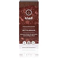 Khadi Tinte Herbal Color Castaño Medio, 100 g