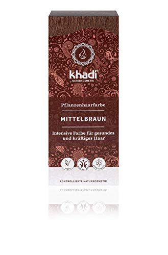 Khadi Tinte Herbal Color Castaño Medio, 100 g