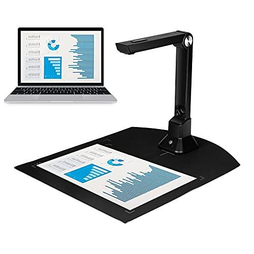 Dokumentenkamera für Lehrer, hochauflösender tragbarer Scanner Ständer, Aufnahmegröße A3, mehrsprachig, intelligente Serienaufnahme, automatische Korrektur von Videoaufnahmen