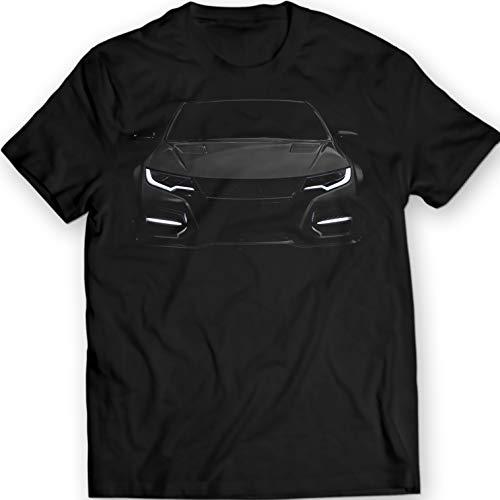 2016 Civic Type R VTEC T-Shirt aus 100% Baumwolle, Medium, Schwarz