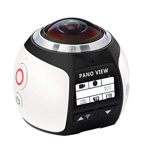 YWT 4K WiFi 360 Sport Action Kamera, Mini Full HD 1080P Cam 220 Weitwinkel Panorama Video Outdoor Helm Kamera, 30M Tauchen Wasserdicht Pro DVR DV