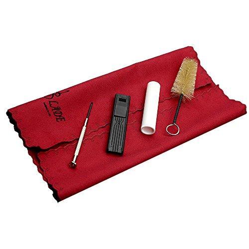 ammoon 5-in-1 Kit de Nettoyage Cork Grease Chiffon de Nettoyage Embouchure Brush Reed Case Mini Tournevis pour Clarinette Saxophone Instruments Flûte
