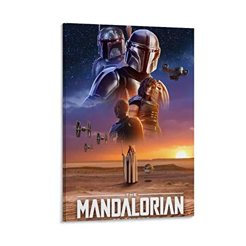 Ghychk Star Wars Mandalorianisches Ölgemälde auf Leinwand, Wanddekoration für...