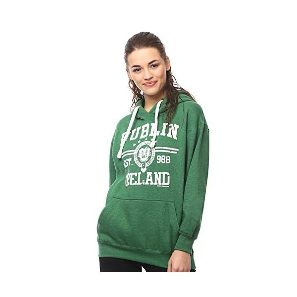 Irish Connexxion Pullover Hoodie with Dublin Ireland EST 988 Print, Green Colour