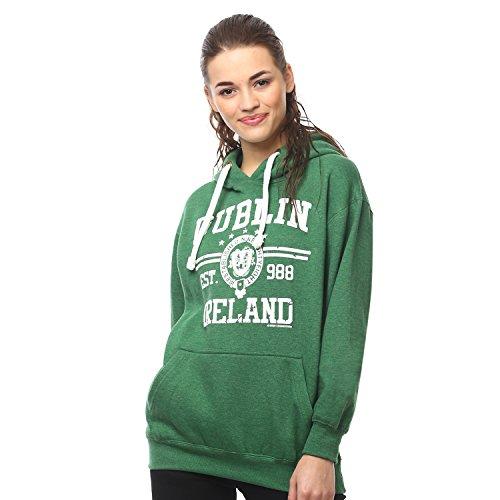 """Irish Connexxion Kapuzenpullover mit Aufdruck """"Dublin Ireland Est 988"""", grün"""