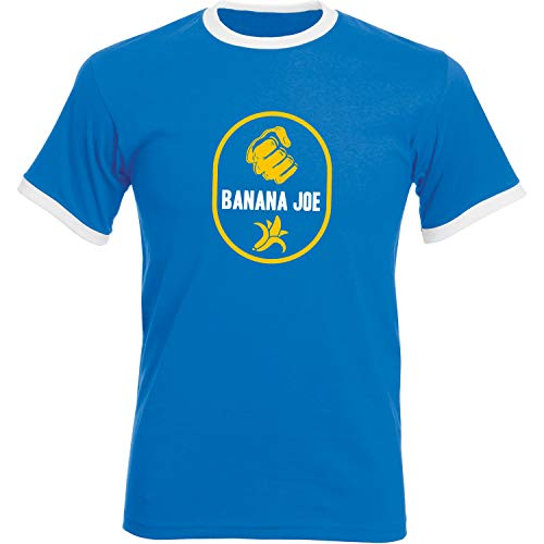 Banana Joe Original Premium Soccer Kontrast T-Shirt #2 Royalblau/Weiss M