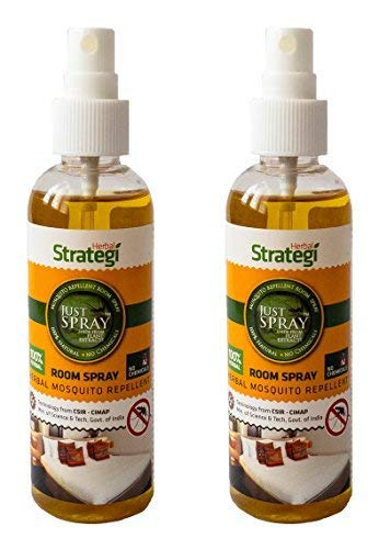 Strategi Herbal Justspray Mosquito Repellent Room Spray - 100 Ml (Pack of 2)