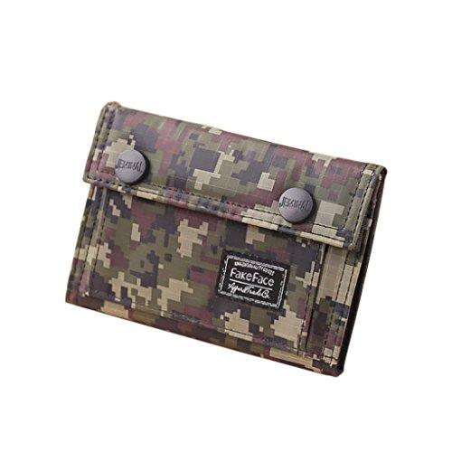 Herren Jungen Geldbörse Portemonnaie in diversen Camo Design Retro Wallet Schüleretui Geldbeutel Card Case Holder