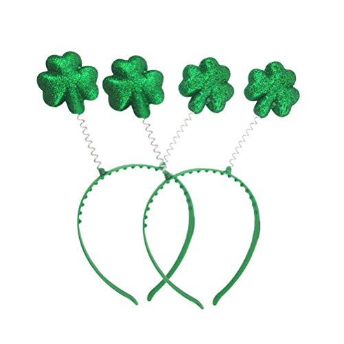 Lurrose Diadema de 6 Piezas St.Patrick's Day Trébol Banda Shamrock Accesorios para el Cabello para irlandeses