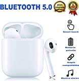 auricolare bluetooth senza fili, cuffie wireless stereo 3d with ipx5 impermeabile, accoppiamento automatico per chiamate binaurali, adatto compatibile con iphone/android/airpods