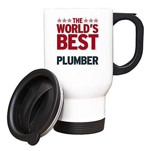 Duke Gifts Rouge Worlds Best Plombier Blanc Mug de Voyage 289
