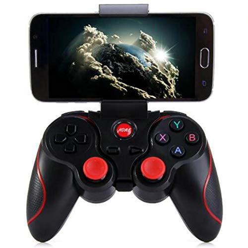 Xin Hai Yuan T3 Wireless Bluetooth Gamepad Gaming Remote Controller Joystick BT 3.0 para Android Smartphone Tablet PC TV Box,Negro
