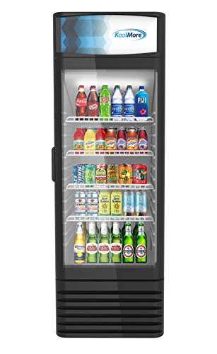 KoolMore MDR-9C Commercial Glass 1 Door Display Refrigerator Merchandiser - Upright Beverage Cooler...