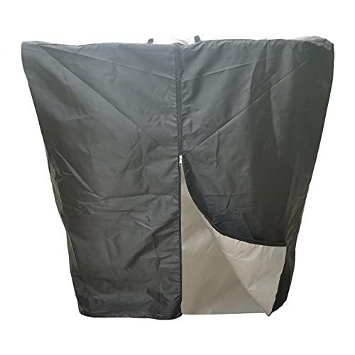 Lona protectora para depósito IBC de 1000 l de lluvia y agua, con apertura superior, cremallera impermeable, protección UV, lona de protección contra el polvo
