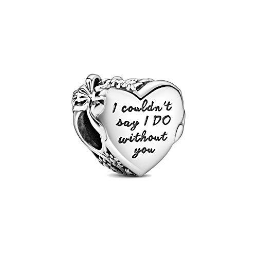 ZSCZQ Nuevo corazón Rosa Disco de árbol genealógico Colgante Doble Cuenta encantos Originales Pulsera de Plata 925 para Mujer joyería de Moda A1723
