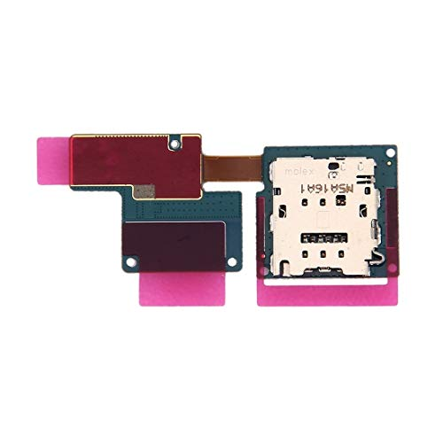 TKTK Mobile Phone Card Socket Replacement SIM Card Reader Flex Cable for Compatible for Galaxy Tab Pro S LTE / W707 / W700