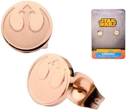 Star Wars Rebel Alliance Rose Gold Platted Stud Earrings