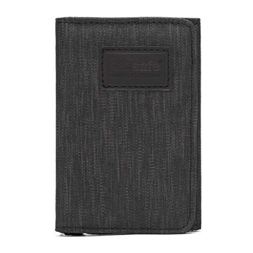 Pacsafe RFIDsafe Trifold Wallet Portemonnaie Geldbörse, Erwachsene, Unisex, Schwarz (schwarz), Einheitsgröße