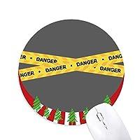 ロゴ危険線 円形滑りゴムのマウスパッドクリスマス飾り
