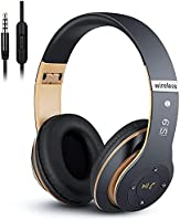 6S Wireless Headphones Over Ear,Hi-Fi Stereo Foldable Wireless Stereo Headsets Earbuds with Built-in Mic,Volume...