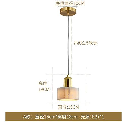 Hanglamp, kroonluchter, plafondlamp, Nordic Luxus, minimalistisch, restaurant, koper, drie koppen, marmer, rijst, bar, unieke kop, hangend
