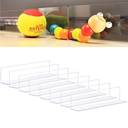 Ciskotu Spielzeugblocker für Möbel, Durchsichtiges Blockierbrett unter den Möbeln, Haustier-Prallplatte, Stark Klebende Schallwand, Verstellbarer Spaltstoßfänger für Sofa, Bett (8 Stück)