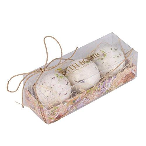 MuSheng(TM) Balles de bain Boule Naturel Sel de Mer Lavande Bulle Gommage Corps Essentiel Kit Cadeau Idéal Kit Balles Effervescentes Spa