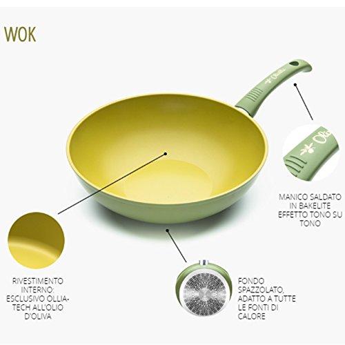 WOK anti-aging olie 100% Made in Italy diameter 28 cm iLLa Olivilla keuken