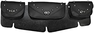 Vance Leather 3 Compartment Studded Windshield Bag