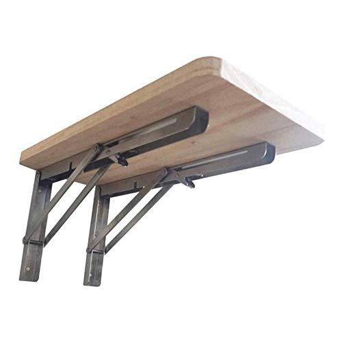 Mesa De Cocina Plegable, mesa de banco de trabajo Escritorio de computadora montado en la pared Material de madera Banco de trabajo montado multifunción, Mesa abatible montada-40X40, Onecolor, 40X30