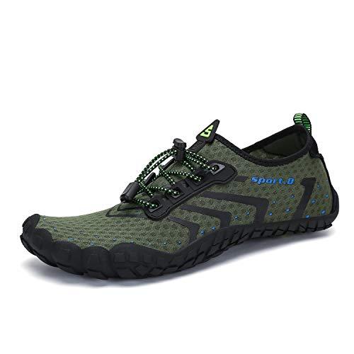SAGUARO Mens Womens Minimalist Barefoot Gym Shoe Trail Runner Green
