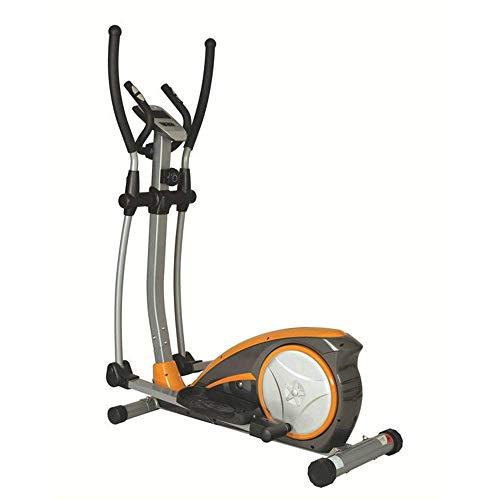 Esercizio da Interno Macchina ellittica Allenamento Fitness Cardio Training Macchina Controllo della Macchina Allenatore ellittico con Monitor LCD (Colore: Brown, Dimensione: 120x67x154 cm) BJY969