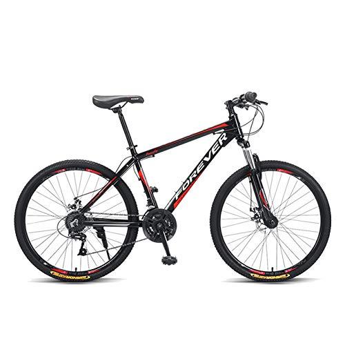 Axdwfd Infantiles Bicicletas Masculina Y Femenina De 24 Pulgadas Mountain Bike Variable Velocidad Carrera Doble Amortiguador Bicicleta Adulto con Freno De Mano (Color : B)