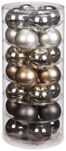 Inge-glas 15090D003 - Palline Decorative per Albero di Natale, 60 mm, Barattolo da 28 Pezzi, Motivo: Urban Graphic Mix