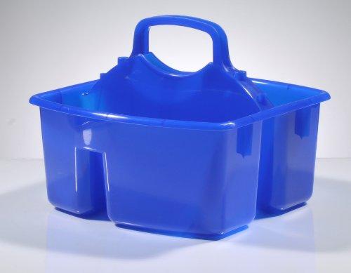 Gies 5559 Mehrzweckkasten 25,5 x 26,5 x 12,5 cm Flaschenträger Flaschenkorb Tragekorb Mehrzweckkorb Gerätekasten Werkzeug-Korb Werkzeugkasten Multifunktions-Tragekorb (blau)