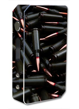 Skin Decal Vinyl Wrap for Pioneer 4 You ipv3 LI 165w watt Vape Mod Box / bullets black