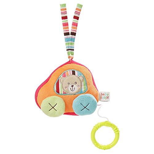 Fehn muziekdoos, met uitneembaar speelwerk om op te hangen, knuffelen en grijpen, voor baby's en peuters vanaf 0+ maanden auto, oscar auto, oscar