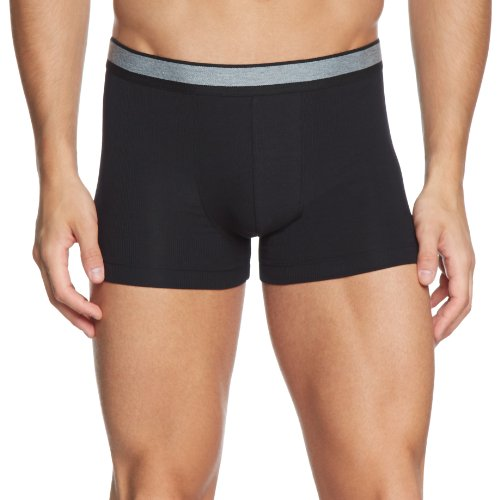 Schiesser Herren Unterhose Shorts 143624, Gr. 6 (L), Schwarz (000-schwarz)