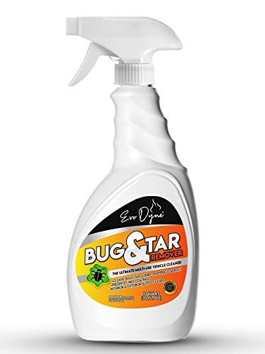Evo Dyne Bug and Tar Stain Remover for Cars (32 fl oz), Made in USA   Removes Tar, Droppings, Guts, Dirt, Grease, Tree Sap, & Bird Feces – Excellent Sap Remover for Car & Automobiles
