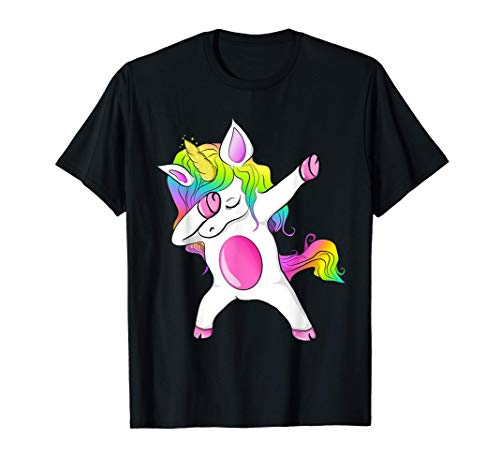 colores del arco iris mágico unicorn chica unicornio Camiseta