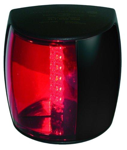 Hella Marine NaviLED PRO Port Navigationslampe, 3 nm, rotes Objektiv, schwarzes Gehäuse