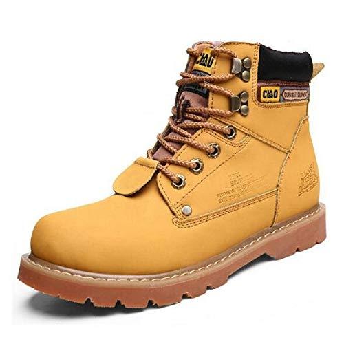 FHCGMX heren Martin laarzen voor buiten, hoog, western laarzen om te knutselen, schoenen voor mannen, splitleer en enkels, woestijnlaarzen