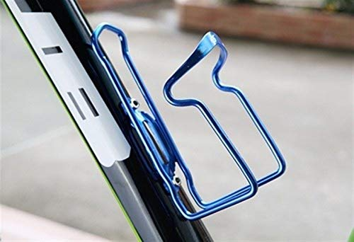Portavasos para Bicicleta Botella de aleación de Aluminio de Ciclo Metal del Equipo de Soporte for Botella de Agua Jaula MTB Camino de la Bicicleta Ligero y fácil de Instalar (Color : Blue)
