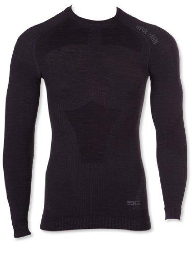 GAT T-shirt L Wool Men – Sous-Vêtement fonctionnel en laine mérinos thermoactive Seamless Technology - Noir -